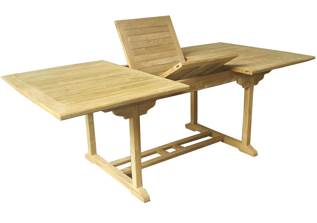 teakholz tisch rechteckig ausziehbar tische teakholz. Black Bedroom Furniture Sets. Home Design Ideas